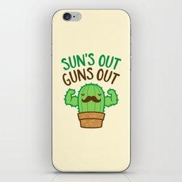 Sun's Out Guns Out Macho Cactus iPhone Skin