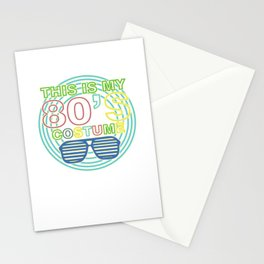 I Love 80s Eighties Fancy Dress Theme Party Gift Stationery Cards