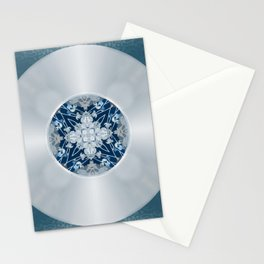 Vinyl Record Illusion in Blue Stationery Cards