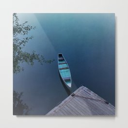 Blue Canoe Metal Print