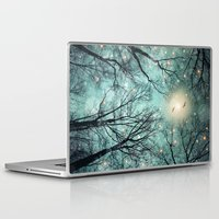 mint Laptop & iPad Skins featuring Nature Blazes Before Your Eyes (Mint Embers) by soaring anchor designs