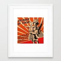 propaganda Framed Art Prints featuring Propaganda Series by Alex.Raveland...robot.design.digital.art