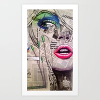 newspaper Art Prints featuring NewsPaper  by cchelle135