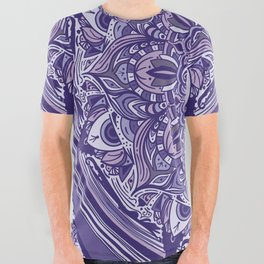Great Purple Mandala All Over Graphic Tee