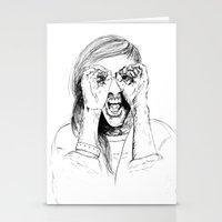 ellie goulding Stationery Cards featuring Ellie Goulding by Sophie Melissa