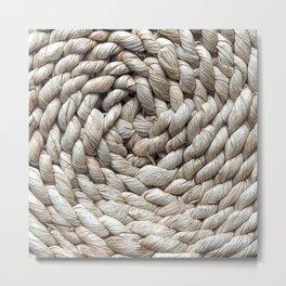 The weaving straw pillow Metal Print