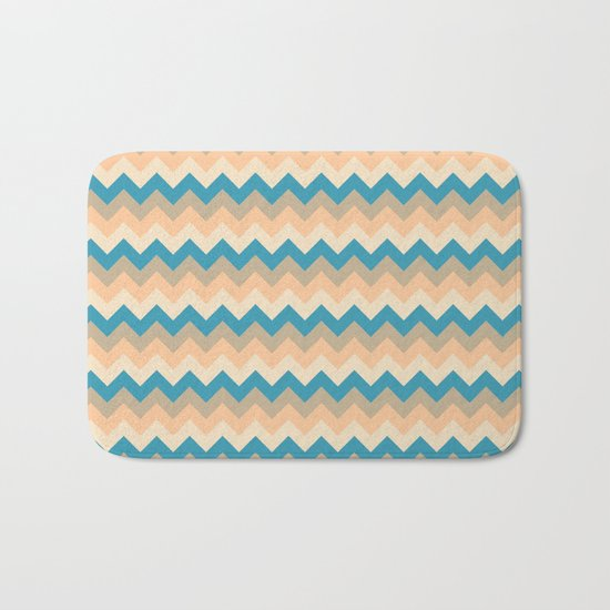 Colorful Chevron Pattern IV Bath Mat