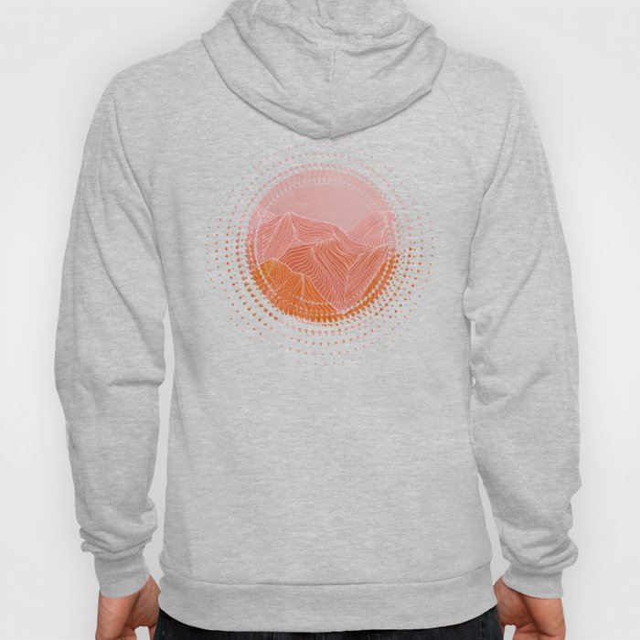 Lines in the mountains - pink II Hoody