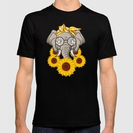 Elephant With Sunflower Gift T-shirt