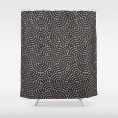 SWIRL / coffee Shower Curtain