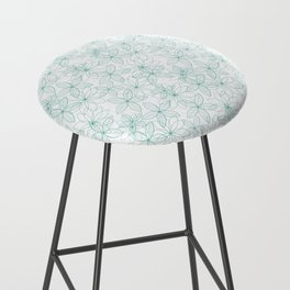 Floral Freeze White Bar Stool