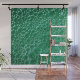 Champagne Bubbles Collection: #2 - Emerald Green Wall Mural