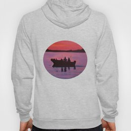 Fishing in the sunset Hoody