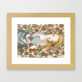 Sleep Beauty//Briar Rose Framed Art Print
