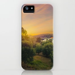 Clear Lake Sunset | Lake County California Landscape Sunset Travel Photography iPhone Case