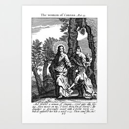 The Woman of Canaan Art Print