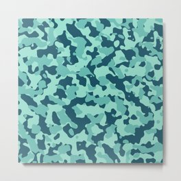 Beach Camouflage Metal Print