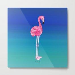 Flamingo Totem Variant Metal Print