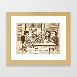 We're all cannibals here Framed Art Print