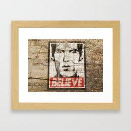 BELIEVE (Obey Giant X Twin Peaks) Framed Art Print