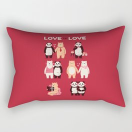 Love is Love - Being single is ok! Rectangular Pillow