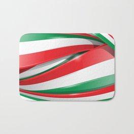 Italian and mexican flag Bath Mat