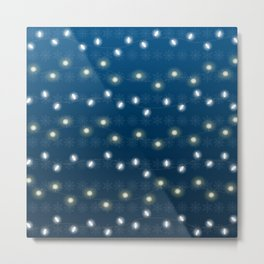 Christmas Light Blue Metal Print