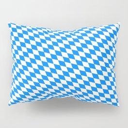 Bavarian Blue and White Diamond Flag Pattern Pillow Sham
