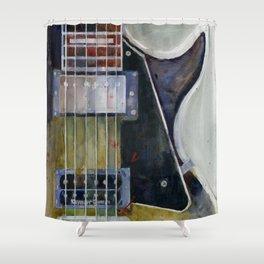 Les Paul Gibson Guitar Shower Curtain
