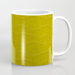SHARK WHALE WAVES MUSTARD Coffee Mug