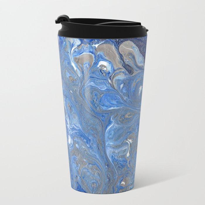 River of Silver Blues Metal Travel Mug