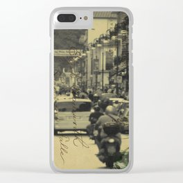 Sorrento street postcard Clear iPhone Case
