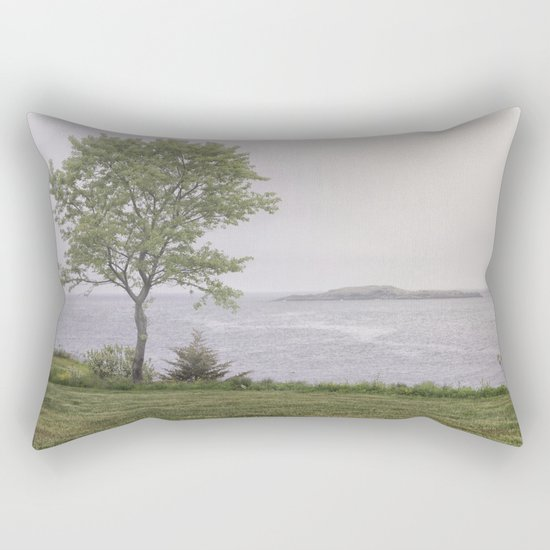 Lone tree by the sea Rectangular Pillow