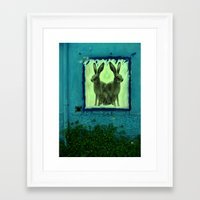 bunnies Framed Art Prints featuring bunnies by sustici