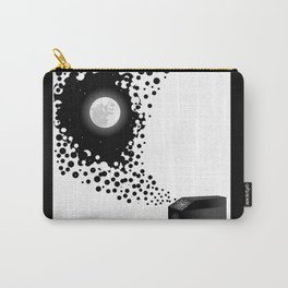 Night Sky Bubbles in a Negative Space Carry-All Pouch