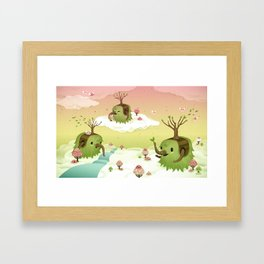 Mossiphants Framed Art Print