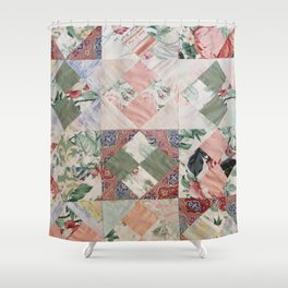#02#Fabric in pieces pattern Shower Curtain