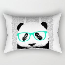 Panda with teal glasses Rectangular Pillow