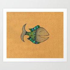 happy fish #4 Art Print