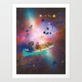 Calvin and Hobbes Paddle the Infinite Universe Art Print