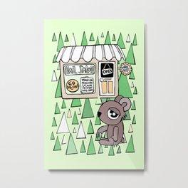 Nail Salon Bear Metal Print