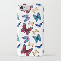 butterflies iPhone & iPod Cases featuring Butterflies by Katerina Izotova Art Lab