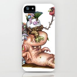 Pufty Gigrager A Marshfellow riding a Stomp iPhone Case