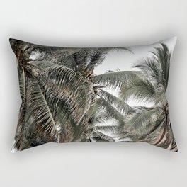 Green palm trees Rectangular Pillow