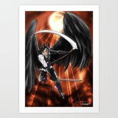 Blood Moon Reaper Art Print