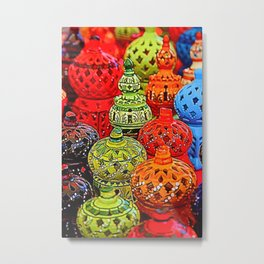 ceramic and decorated vase Metal Print