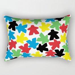 Meeple People Rectangular Pillow