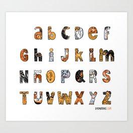Perruna Font / Dog font Art Print