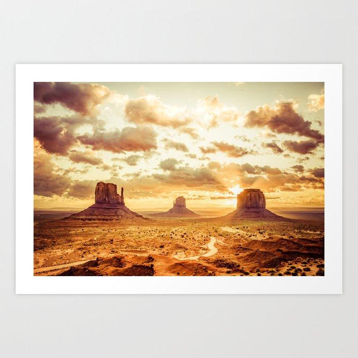 Monument Valley Sunrise Art Print