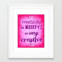 creativity Framed Art Prints featuring Creativity by Urlaub Photography